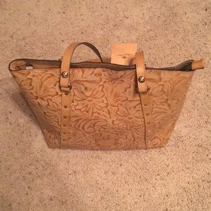 Patricia Nash Burnished Tooled Collection Tote